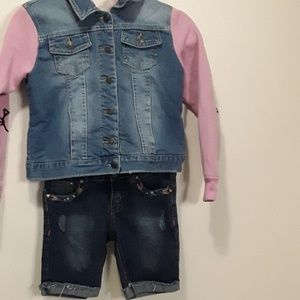 Vigoss Bundle, Jean jacket and capris. size 12